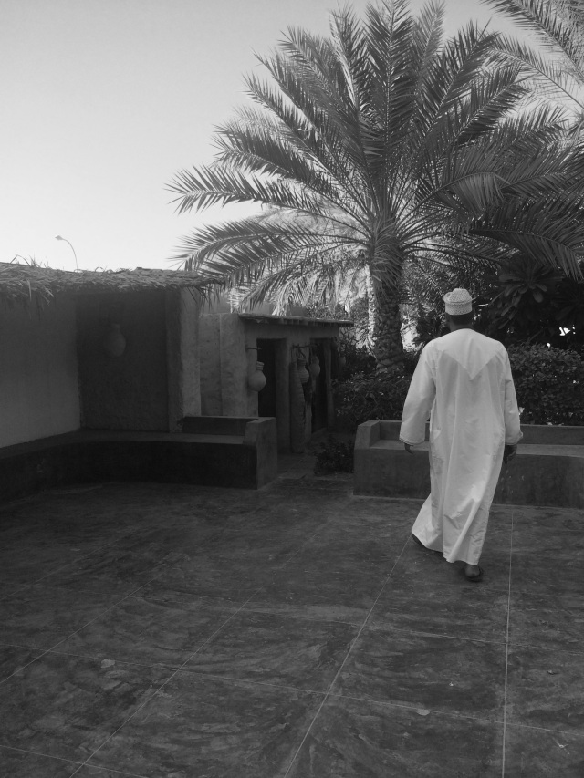 Omani man at The Bait Al Zubair Museum Garden